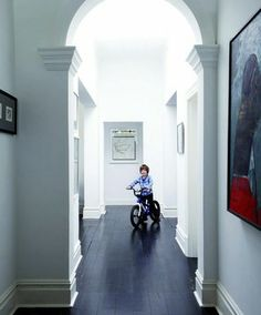 Black floorboards update this #SouthAfrican family #property