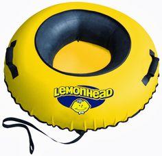 Fat Tire Snow Tube™ NEON ORANGE Heavy Duty Snow Tube