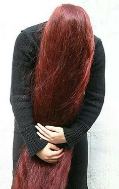 long red henna hair