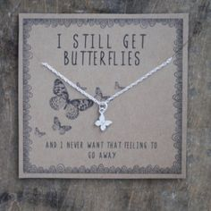 i still get butterflies . silver layering necklace . gift for girlfriend gift for wife