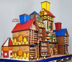 Santa's Workshop Gingerbread House by Wicked Goodies, via Flickr.