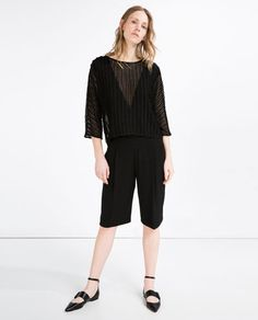 ZARA - NEW IN - FLOWING BERMUDA SHORTS WITH PLEATED FRONT