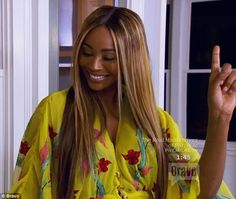 Good times: Cynthia Bailey reached out and invited NeNe to her home...
