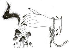 Magic mushrooms Illustration by Carli McMartin | www.carlimcmartin.com