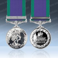 This 1962 and Onwards General Service Medal comes with The Radfan Clasp - Additional awarded clasps are also available for this GSM. Army Tattoos, Military Awards, Service Medals, Royal Air Force, Borneo, Northern Ireland, Personalized Items, Stuff To Buy, Joinery