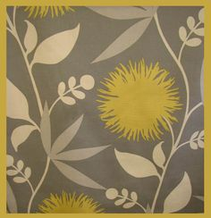 For my yellow and grey bedroom. Still searching for the perfect fabrics, but I do love this.