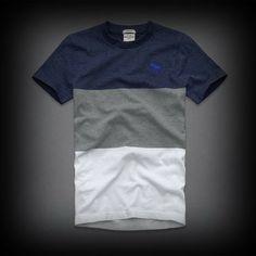 abercrombie メンズ Tシャツ  アバクロ multi-color tee Tシャツ ★アバクロ 銀座店で販売されていない海外限定の入手困難なアイテム!アバクロ新作商品。  ★ヴィンテージウォッシュがコーディネイトしやすくて個性的な古着っぽさな味がでてお洒落。  ★落ち着いたマルチカラーが特徴のTシャツ!