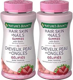 Nature's Bounty Hair, Skin & Nails Gummies with Biotin - 220 Gummies x 2 Pack - Total 440 Gummies