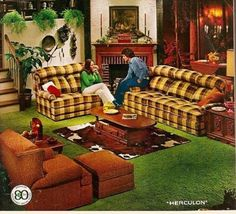 4 Simple and Stylish Ideas: Vintage Home Decor Ideas Creative modern vintage home decor house plans.Classic Vintage Home Decor Mid Century vintage home decor minimalist.Vintage Home Decor Diy Bar. 1970s Decor, 70s Home Decor, Home Decor Bedroom, Vintage Home Decor, Plaid Couch, Country Furniture, Furniture Vintage, 1970s Furniture, Vintage Decor