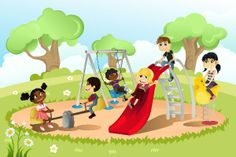 Playground Illustrations and Clip Art. Playground royalty free illustrations, drawings and graphics available to search from thousands of vector EPS clipart producers. Drawing For Kids, Painting For Kids, Picture Composition, Cute Butterfly, Children Images, Illustrations, Happy Fun, Cartoon Kids, Free Vector Art