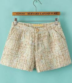 Shop Apricot Sequined Tweed Shorts online. Sheinside offers Apricot Sequined Tweed Shorts & more to fit your fashionable needs. Free Shipping Worldwide!
