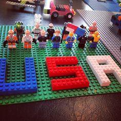 Lets GO USA!  Legos!