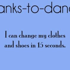 Thanks to dance:) this saves me so much time in the morning.