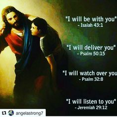"#Repost @angelastrong7 with @repostapp ・・・ Good night everyone.../*/ Buenas noches amigos.. ""ESTARE CONTIGO (Isaias 43:1) Te librare (Salm 50:15) Te voy a cuidar (Salm 32:8) Te escuchare (Jerem 29:12)"" #jesus #godsword #bible #bibleverse #bibleverses #bibleverseoftheday"