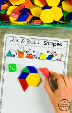 Composing Shapes Activity for Kindergarten kindergarten kindergartenmath shapes geometry kindergartenworksheets mathgames planningplaytime 238339005263974988 Shape Activities Kindergarten, Math Classroom, Fun Math, Preschool Activities, Center Ideas For Kindergarten, 2d Shapes Activities, Kindergarten Library, Preschool Shapes, Preschool Worksheets