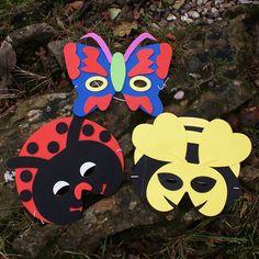 Pack of Three Foam Bug Masks