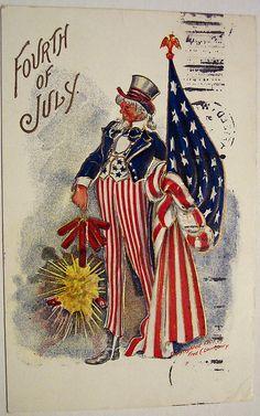 Vintage Fourth of July Postcard by riptheskull, via Flickr