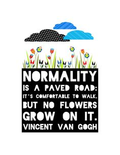Normality // Art Print // Van Gogh Quote by CherrySparrow on Etsy