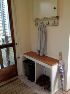 Idea for bench in side entryway