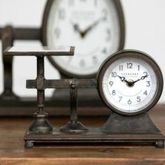 Decorative Hardware Scale Clock, Small – Modern Rustic Home Farmhouse Style Decorating, Farmhouse Decor, Finding Treasure, Modern Rustic Homes, Vintage Industrial Decor, Antique Farmhouse, Toy Storage, Storage Ideas, Storage Containers