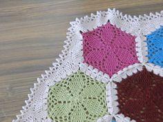 lacy hexagon blanket by caseyplusthree, via Flickr