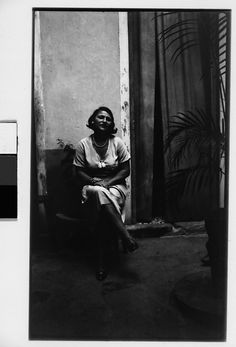 Walker Evans | [Woman Seated Outside Doorway, Havana] | The Met
