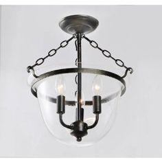 Antique Copper Finish Glass Lantern Flushmount Chandelier for foyer.just need to check height for clearance Copper Lantern, Copper Glass, Chandeliers, Entry Lighting, Kitchen Lighting, Lighting Ideas, Antique Lanterns, Lantern Chandelier, Chandelier Lighting