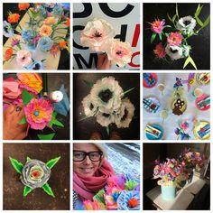 My stuff// paper flowers - paper art - paperlover - DIY - skidtogkanel - kirstine Kirk