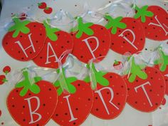 Birthday Banner Strawberry