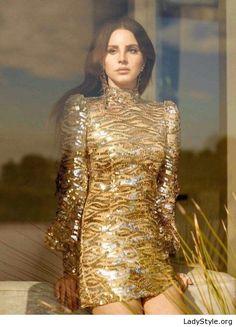 Gold glitter dress glam - LadyStyle