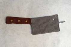 Crocheted Cleaver Applique/Ornament Pattern (Pattern Only) by MonsterCrochet on Etsy