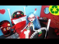 Manualidades para muñecas: Haz una cama inspirada por la muñeca de Monster High Ghoulia Yelps - YouTube