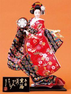 ◆柴田家千代作、京洛ものがり。コンパクトサイズの日本人形。