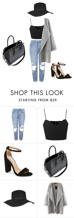 """London here I Come!"" by kayla-santella ❤ liked on Polyvore featuring Topshop, Steve Madden and Givenchy"