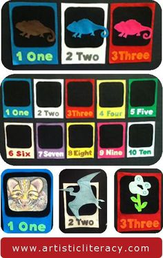 """Make felt """"windows"""" for counting flannel boards to add early-literacy component. Free template at post."""