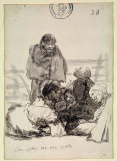 """Francisco Goya""""Con estos no me meto """""""