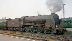 BR (Southern) Lord Nelson class No 30852 'Sir Walter Raliegh' Buses And Trains, Old Trains, Diesel Locomotive, Steam Locomotive, Southern Trains, Steam Railway, Southern Railways, Railway Posters, British Rail