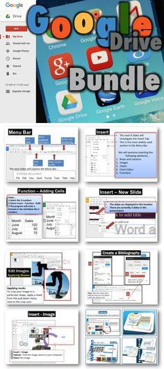 •These lessons contains screen shots, activities, marking schemes, tips and instructions for using DOCS, SLIDES, SHEETS, DRAWINGS and FORMS within Google Drive. Update: Lessons for the new Google Add-ons and Updates have been added.
