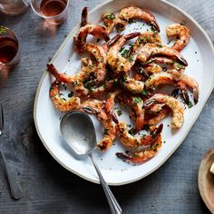 J. Kenji López-Alt's Grilled Shrimp Scampi-ish With Garlic and Lemon  Recipe on Food52 recipe on Food52 Lemon Recipes, Shrimp Recipes, Summer Recipes, Grill Recipes, Scampi Recipe, Food Lab, How To Cook Shrimp, Grilled Shrimp, Camarones