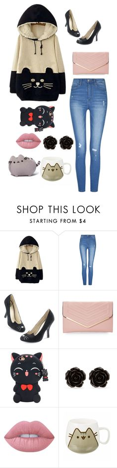 """""""Megan"""" by ashleeramme on Polyvore featuring WithChic, Sasha, Erica Lyons, Lime Crime and Pusheen"""
