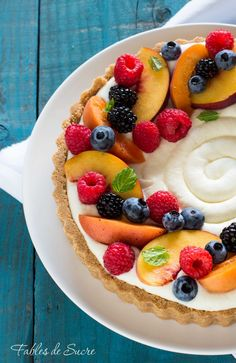 Tart without summer baking, Tart without fruit cooking Real Food Recipes, Dessert Recipes, Cooking Recipes, Desserts, Cheesecake Cake, Fruit Tart, Vegan Kitchen, Breakfast Cake, Yummy Cakes