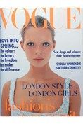 19 year old Kate Moss - her first Vogue cover