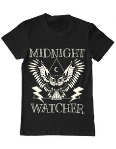 Tricou Tricou Midnight Watcher Camping, Mens Tops, T Shirt, Eagle, Campsite, Supreme T Shirt, Tee Shirt, Campers, Tee