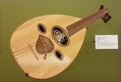 Ud, the Arabic guitar and ancestor of European models, crafted by Iraqi Farhan Hassan. Baghdad 2008. Musical Instrument Museum