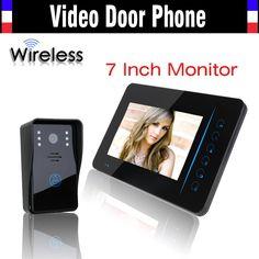 136.99$  Watch here - http://ali5tw.worldwells.pw/go.php?t=32344558134 - Wireless Video Intercom Door Phone System 7 Inch IR Night Vision Video Doorbell Camera Waterproof 1 Camera 1 Monitors Kits