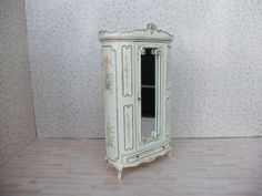 Details about  Dollhouse Miniature Furniture Hand Crafted 1/12 Bedroom Wardrobe Armoire Dresser