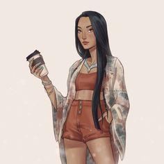 Princess Pocahontas, Disney Princess Fashion, Disney Princess Drawings, Disney Princess Pictures, Disney Pocahontas, Disney Princess Quotes, Disney Drawings, Pocahontas Drawing, Kawaii Disney