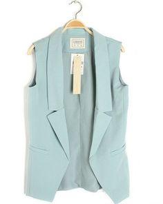 Plain Color Women Girl Causal Suit Vest Waistcoat 4 Colors