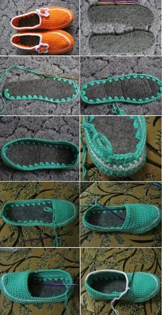Learn to Crochet Flip-Flops Tongs Crochet, Crochet Diy, Learn To Crochet, Crochet Crafts, Crochet Projects, Diy Crafts, Crochet Ideas, Crochet Sandals, Crochet Boots
