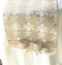 burlap wedding decorations | Burlap table runners, Burlap wedding decor, Shabby chic, ... | Weddin ...